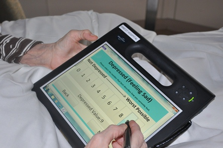 Baycrest's mobile tablet app enables palliative patients to report symptoms directly into their medical chart